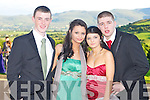 DEBS BALL: Enjoying the ISK debs at the Ballyroe Heights hotel on Thursday l-r: Finnin Brosnan, Tara Roper, Cliodhna McSweeney and Dylan Costello...