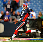 28 August 2008:  Buffalo Bills' punter Brian Moorman warms up prior to a game against the Detroit Lions at Ralph Wilson Stadium in Orchard Park, NY. The Lions defeated the Bills 14-6 in their fourth and final pre-season game...Mandatory Photo Credit: Ed Wolfstein Photo