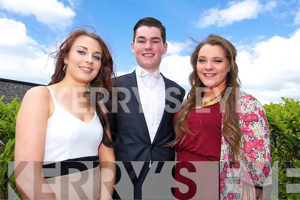 Megan Greene, Micheal Costello and Ciara Cusack at the Mercy Mounthawk Graduation mass in St. Brendan's Church Tralee on Friday