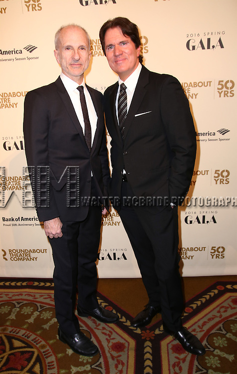John DeLuca and Rob Marshall attends the Roundabout Theatre Company's  50th Anniversary Gala at The Waldorf-Astoria on February 29, 2016 in New York City.