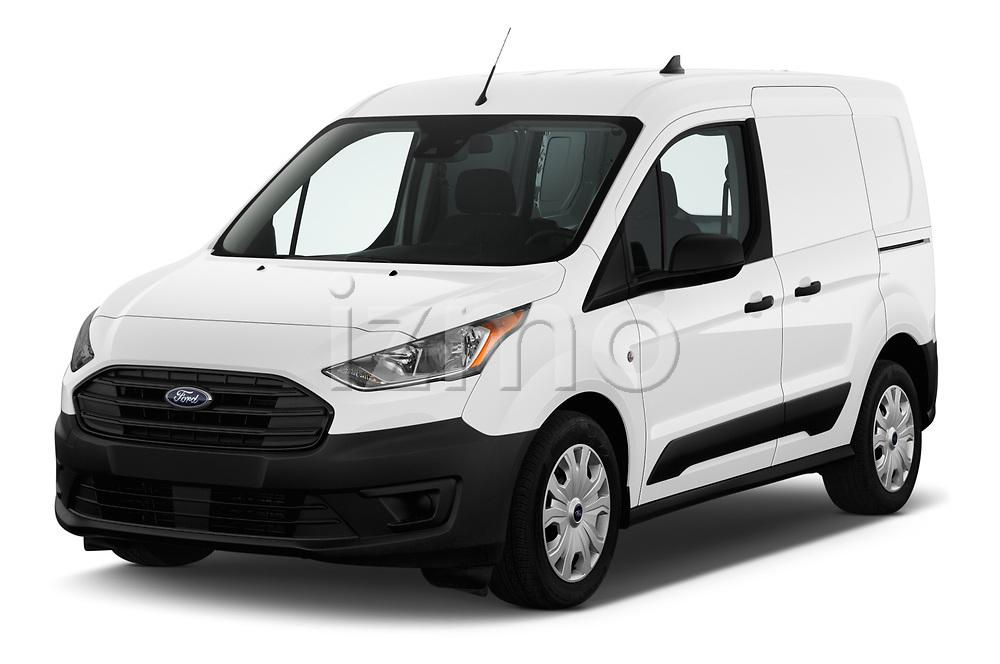 2019 Ford Transit-Connect XL 5 Door Car Van Angular Front stock photos of front three quarter view