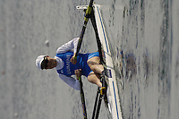 Munich, GERMANY, 2006, FISA, Rowing, World Cup, FIN LW1X, IIona Hiltunen, , held on the Olympic Regatta Course, Munich, Thurs. 25.05.2006. © Peter Spurrier/Intersport-images.com,  / Mobile +44 [0] 7973 819 551 / email images@intersport-images.com.[Mandatory Credit, Peter Spurier/ Intersport Images] Rowing Course, Olympic Regatta Rowing Course, Munich, GERMANY