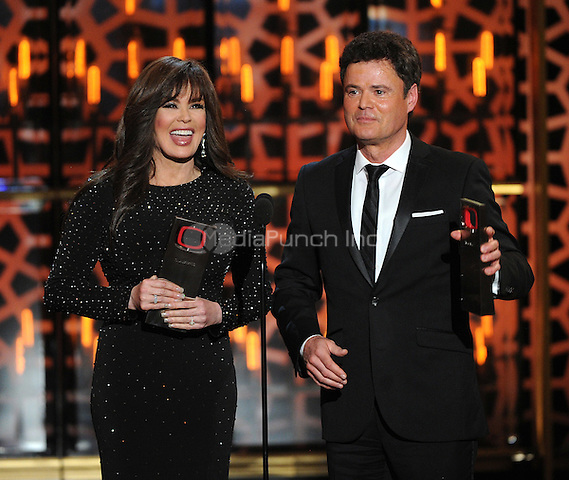 BEVERLY HILLS, CA - APRIL 11: Donnie Osmond and Marie Osmond appear on the 2015 TV Land Awards at the Saban Theater on April 11, 2015 in Beverly Hills, California. FMPG/MediaPunch