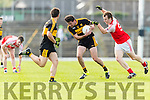 Ambrose O'Donovan Dr Crokes in action against Darragh O'Sullivan Dingle in the Senior County Football Semi Final in Fitzgerald Stadium on Sunday.