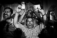 ©VIRGINIE NGUYEN HOANG/.Egypt,Cairo.2012..Ahmed Shafiq supporters were celebrating his second place and his succes to the run off.