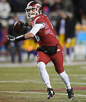 NWA Media/ANDY SHUPE - Arkansas' Brandon Allen passes against LSU during the fourth quarter Saturday, Nov. 15, 2014, at Razorback Stadium in Fayetteville.