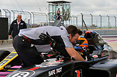 F4 US Championship<br /> Rounds 19-20<br /> Circuit of The Americas, Austin, TX USA<br /> Sunday 22 October 2017<br /> Kyle Kirkwood celebrates his win in victory lane<br /> World Copyright: Gavin Baker<br /> LAT Images