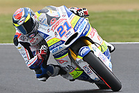 October 27, 2018: Federico Fuligni (ITA) on the No.21 KALEX from Tasca Racing Scuderia Moto2 during the Moto2 practice session three at the 2018 MotoGP of Australia at Phillip Island Grand Prix Circuit, Victoria, Australia. Photo Sydney Low