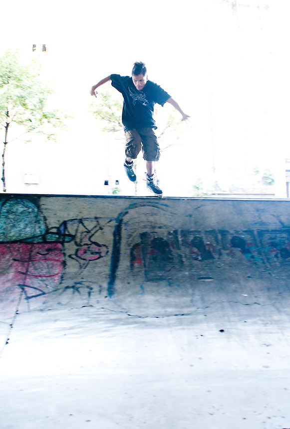 Skate. San Cosme skate park, in Mexico City.