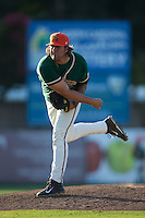 Greensboro Grasshoppers relief pitcher Ryan Hafner (31) follows through on his delivery against the Kannapolis Intimidators at CMC-Northeast Stadium on August 2, 2015 in Kannapolis, North Carolina.  The Intimidators defeated the Grasshoppers 4-2.  (Brian Westerholt/Four Seam Images)