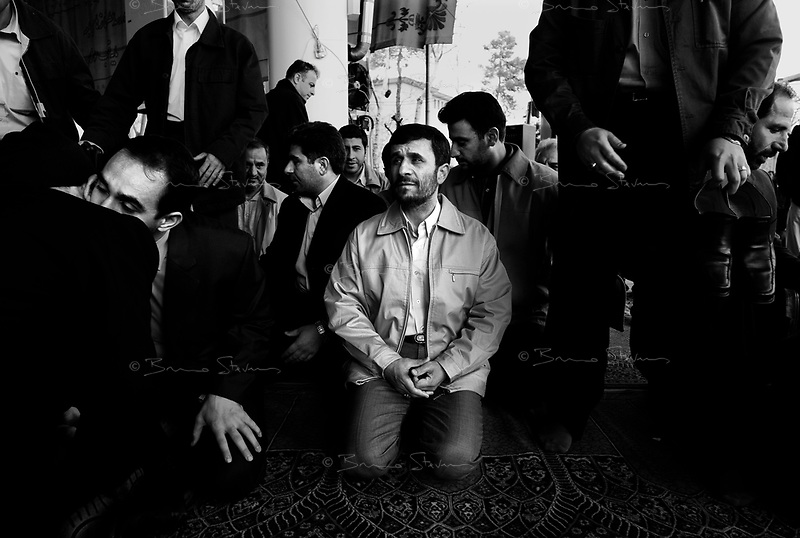 Teheran, Iran, March 30, 2007.Iranian President Mahmoud Ahmadinejad attends the Friday prayer at the University of Teheran, under the direction of Ayatollah Ahmad Khamenei, Imam of Teheran.