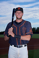 AZL Giants Black catcher Matt Malkin (5) poses for a photo before an Arizona League game against the AZL Giants Orange on July 19, 2019 at the San Francisco Giants Baseball Complex in Scottsdale, Arizona. The AZL Giants Black defeated the AZL Giants Orange 8-5. (Zachary Lucy/Four Seam Images)