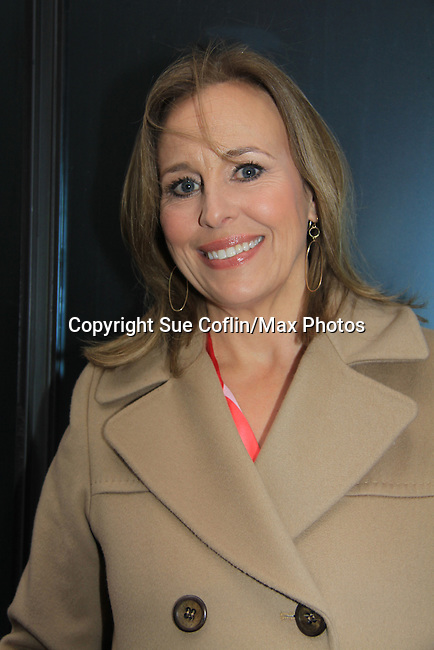 "General Hospital's Genie Francis ""Laura Spencer"" helped GH celebrate its 50th Anniversary as she taped Showbiz Tonight with host A.J. Hammer on April 1, 2013 in New York City, New York.  (Photo by Sue Coflin/Max Photos)"
