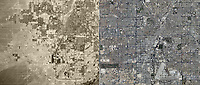 aerial photo map view comparison Las Vegas Nevada 1973 and 2010