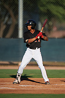 AZL D-backs Marshawn Taylor (5) at bat during an Arizona League game against the AZL Angels on July 20, 2019 at Salt River Fields at Talking Stick in Scottsdale, Arizona. The AZL Angels defeated the AZL D-backs 11-4. (Zachary Lucy/Four Seam Images)