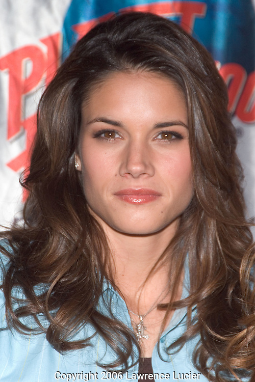 "Missy Peregrym promotes her new movie ""Stick It"" April 20, 2006, at Planet Hollywood in New York City.  . (Pictured: Missy Peregrym)"