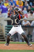 Kane County Cougars catcher Wilson Contreras #19 during a game against the Beloit Snappers May 26, 2013 at Fifth Third Bank Ballpark in Geneva, Illinois.  Beloit defeated Kane County 6-5.  (Mike Janes/Four Seam Images)