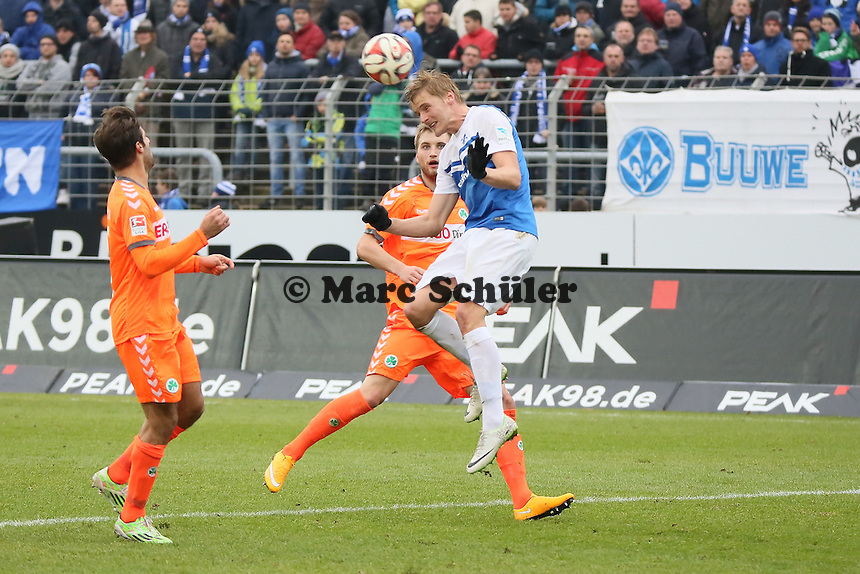 Kopfball Florian Jungwirth (SV98) - SV Darmstadt 98 vs. SpVgg. Greuther Fuerth, Stadion am Boellenfalltor