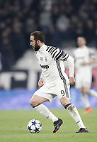 Juventus' Gonzalo Higuain in action during the Champions League round of 16 soccer match against Porto at the Juventus Stadium, 14 March 2017. Juventus won 1-0 (3-0 on aggregate) to reach the quarter finals.<br /> UPDATE IMAGES PRESS/Isabella Bonotto