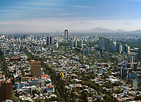 aerial photograph of Polanco district, Mexico City