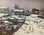 Montmartre, snow effect in 1903 by Georges Chenard-Huche (1864-1937)