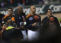juego de beisbol de segunda vuelta de la Liga Mexicana del Pacifico. Tercer partido entre Aguilas de Mexicali vs Naranjeros de Hermosillo. 29 Diciembre 2017.<br /> (Foto: Luis Gutierrez /NortePhoto.com)