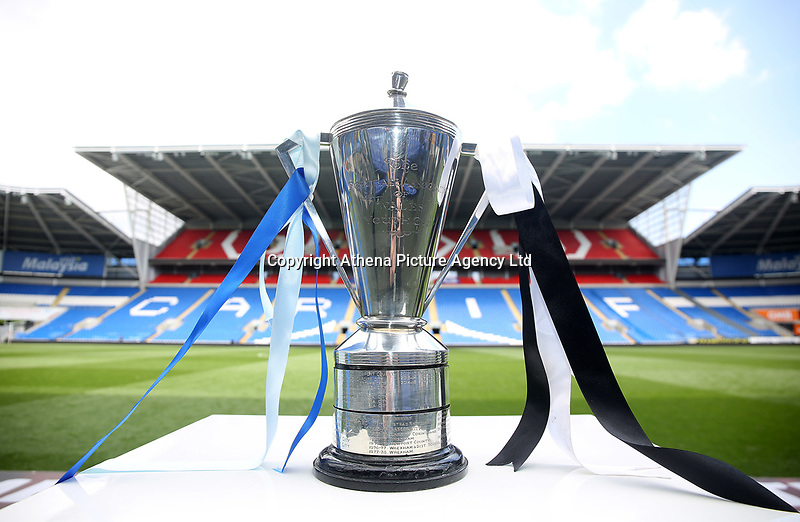 The cup during the FAW Youth Cup match between Swansea City and Cambrian and Clydach at The Cardiff City Stadium, Cardiff, Wales, UK. Sunday 23 April 2017
