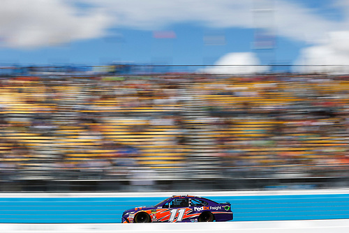 Monster Energy NASCAR Cup Series<br /> TicketGuardian 500<br /> ISM Raceway, Phoenix, AZ USA<br /> Sunday 11 March 2018<br /> Denny Hamlin, Joe Gibbs Racing, Toyota Camry FedEx Freight<br /> World Copyright: Barry Cantrell<br /> NKP / LAT Images