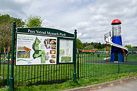 Pictured: A general view of Ystrad Mynach park in Ystrad Mynach, Caerphilly, Wales, UK.Tuesday 07 May 2019<br /> Re: Funeral of 13 year old Carson Price at Gelligaer Church, in Gelligaer, Wales, UK.<br /> Schoolboy Carson Price was found at a park in Ystrad Mynach, south Wales at the start of the Easter school holidays.<br /> It is believed he had taken MDMA Donkey Kong tablets.