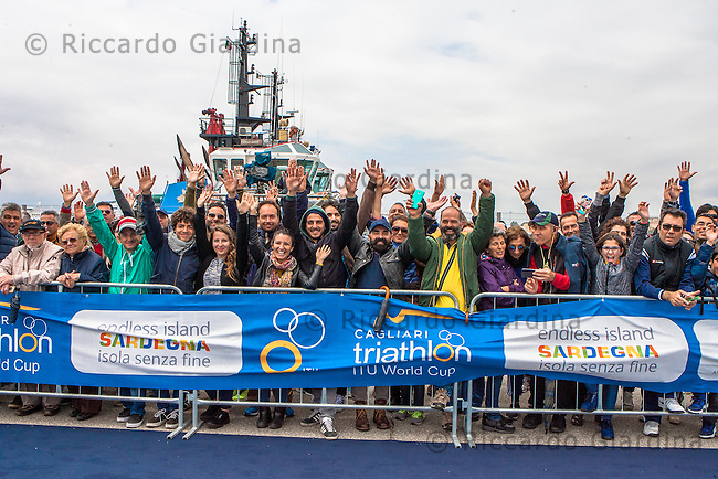 08/05/2016 - Spectators at 2016 Cagliari ITU Triathlon World Cup -