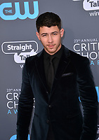 Nick Jonas at the 23rd Annual Critics' Choice Awards at Barker Hangar, Santa Monica, USA 11 Jan. 2018<br /> Picture: Paul Smith/Featureflash/SilverHub 0208 004 5359 sales@silverhubmedia.com