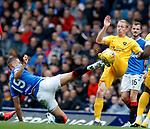 14.09.2019 Rangers v Livingston: Nikola Katic and Chris Erskine