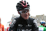 Chris Froome (GBR) Team Ineos at sign on for a wet Stage 2 of the Criterium du Dauphine 2019, running 180km from Mauriac to Craponne-sur-Arzon, France. 9th June 2019<br /> Picture: Colin Flockton | Cyclefile<br /> All photos usage must carry mandatory copyright credit (© Cyclefile | Colin Flockton)
