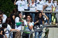 SÃO PAULO, 29 DE JUNHO DE 2013 - MARCHA PARA JESUS: Bispa Sonia Hernandez durante Marcha Para Jesus 2013 realizada na manha deste sabado em São Paulo. A concentração aconteceu próximo a Estação da Luz e os fiéis foram em caminhada até o Campo de Marte, ao som de trio elétricos com musica gospel. FOTO: LEVI BIANCO - BRAZIL PHOTO PRESS