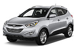 2015 Hyundai Tucson SE Awd 5 Door Suv 2WD Angular Front stock photos of front three quarter view