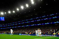 726th November 2019; Tottenham Hotspur Stadium, London, England; UEFA Champions League Football, Tottenham Hotspur versus Olympiacos; Harry Kane of Tottenham Hotspur celebrates as he scores for 2-2 in the 50th minute - Editorial Use