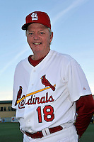 Mar 01, 2010; Jupiter, FL, USA; St. Louis Cardinals  coach Dave Duncan (18) during  photoday at Roger Dean Stadium. Mandatory Credit: Tomasso De Rosa/ Four Seam Images