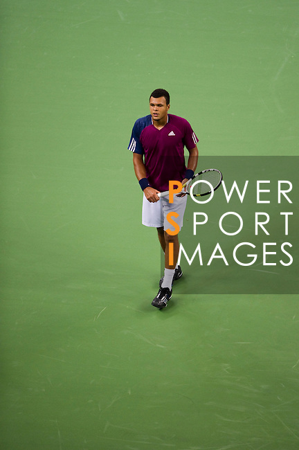 SHANGHAI, CHINA - OCTOBER 14:  Jo-Wilfried Tsonga of France walks on the court during his match against Florian Mayer of Germany during day four of the 2010 Shanghai Rolex Masters at the Shanghai Qi Zhong Tennis Center on October 14, 2010 in Shanghai, China.  (Photo by Victor Fraile/The Power of Sport Images) *** Local Caption *** Jo-Wilfried Tsonga