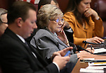 Nevada Sen. Joyce Woodhouse, D-Henderson, works in the Committee of the Whole at the Legislative Building in Carson City, Nev., on Wednesday, May 27, 2015. <br /> Photo by Cathleen Allison