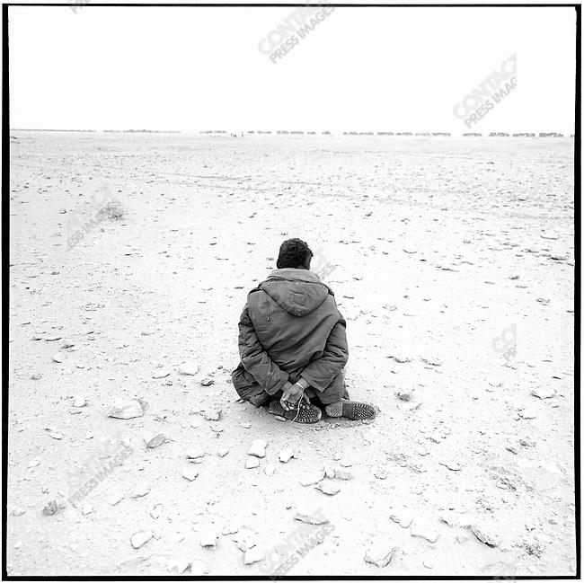 Iraqi prisoner, Iraq, February 25, 1991