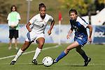 04 November 2009: Florida State's Ines Jaurena (FRA) (2) and Duke's Cody Newman (8). The Florida State University Seminoles defeated the Duke University Blue Devils 2-0 at Koka Booth Stadium in WakeMed Soccer Park in Cary, North Carolina in an Atlantic Coast Conference Women's Soccer Tournament Quarterfinal game.