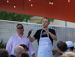 """Chef Dave Holman speaks during the """"Reno Taste"""" launch party  Tuesday, June 13, 2017 on the terrace of Campo Reno."""
