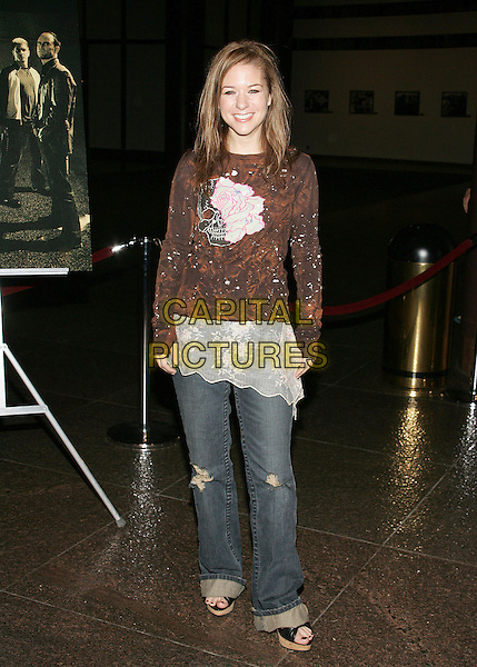 """CATHY CAHLIN.At """"The Shield"""" Season 5 Premiere Screening at the Directors Guild of America, Hollywood, California..January 9th, 2006.Photo: William Scott/AdMedia/Capital Pictures.Ref: WS/ADM.full length jeans denim brown top.www.capitalpictures.com.sales@capitalpictures.com.© Capital Pictures."""