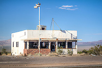 The old Ludlow Cafe on Route 66 in Ludlow California.  The cafe served as a location in the 1993 move Kalifornia.