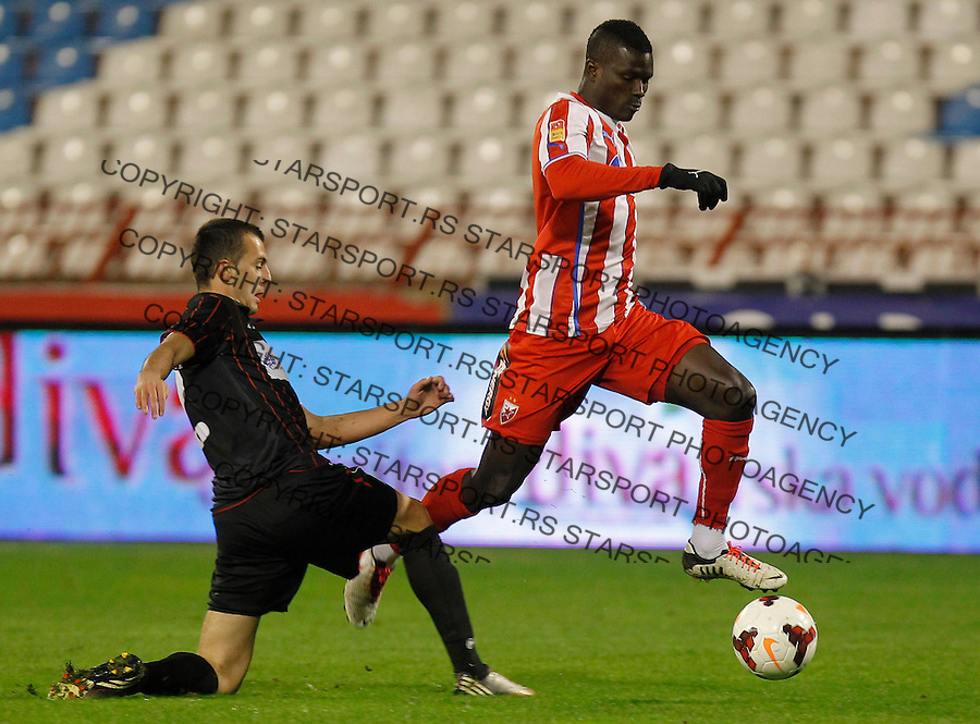 Fudbal Super liga season 2013-2014<br /> Crvena Zvezda v Sloboda Uzice<br /> Abiola Dauda (R) <br /> Beograd, 23.11.2013.<br /> foto: Srdjan Stevanovic/Starsportphoto &copy;