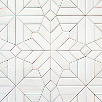 Dominic, a hand-cut stone mosaic, shown in Venetian honed Dolomite.