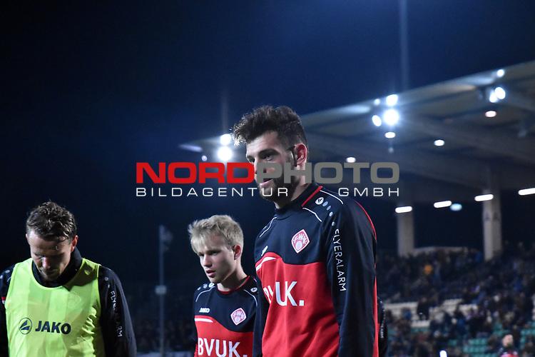 14.02.2020, Preußenstadion, Münster, GER, 3.FBL, SC Preussen Muenster vs. FC Wuerzburger Kickers, <br /> <br /> DFL REGULATIONS PROHIBIT ANY USE OF PHOTOGRAPHS AS IMAGE SEQUENCES AND/OR QUASI-VIDEO<br /> <br /> im Bild<br /> Luca Pfeiffer (FC Würzburger Kickers #16), Aktion / Einzelbild /<br /> <br /> Foto © nordphoto / Paetzel