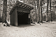 Westside Shelter in Franconia Notch State Park in the White Mountains, New Hampshire USA