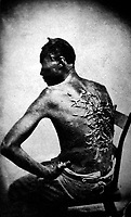 Overseer Artayou Carrier whipped me.  I was two months in bed sore from the whipping.  My master come after I was whipped; he discharged the overseer.  The very words of poor Peter, taken as he sat for his picture.  Baton Rouge, La., April 2, 1863.  (War Dept.)