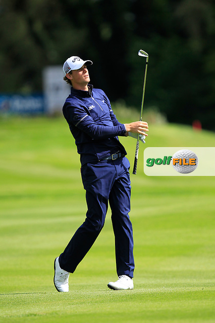 Thomas Pieters (BEL) at  the 17th during Wednesday's Pro-Am round of the Dubai Duty Free Irish Open presented  by the Rory Foundation at The K Club, Straffan, Co. Kildare<br /> Picture: Golffile | Thos Caffrey<br /> <br /> All photo usage must carry mandatory copyright credit <br /> (&copy; Golffile | Thos Caffrey)